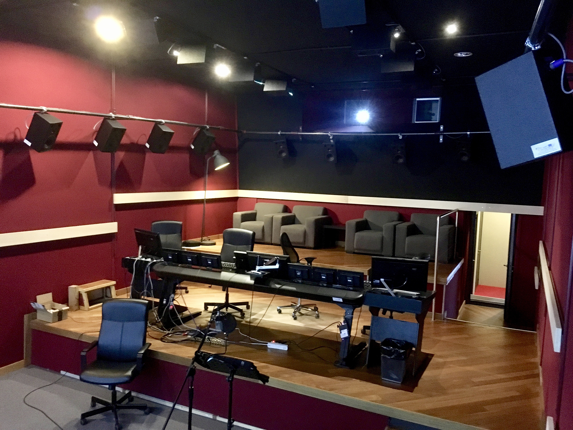 Audio Excellence Home Cinema High End Screen Loudspeakers What Does Your Wiring Cabinet Look Like Avs Forum Theater Branko Ran A Demo First With The Usual Dolby Test Blu Ray Which I Am Familiar And Then An Extract Of Movie They Have Been Producing Locally