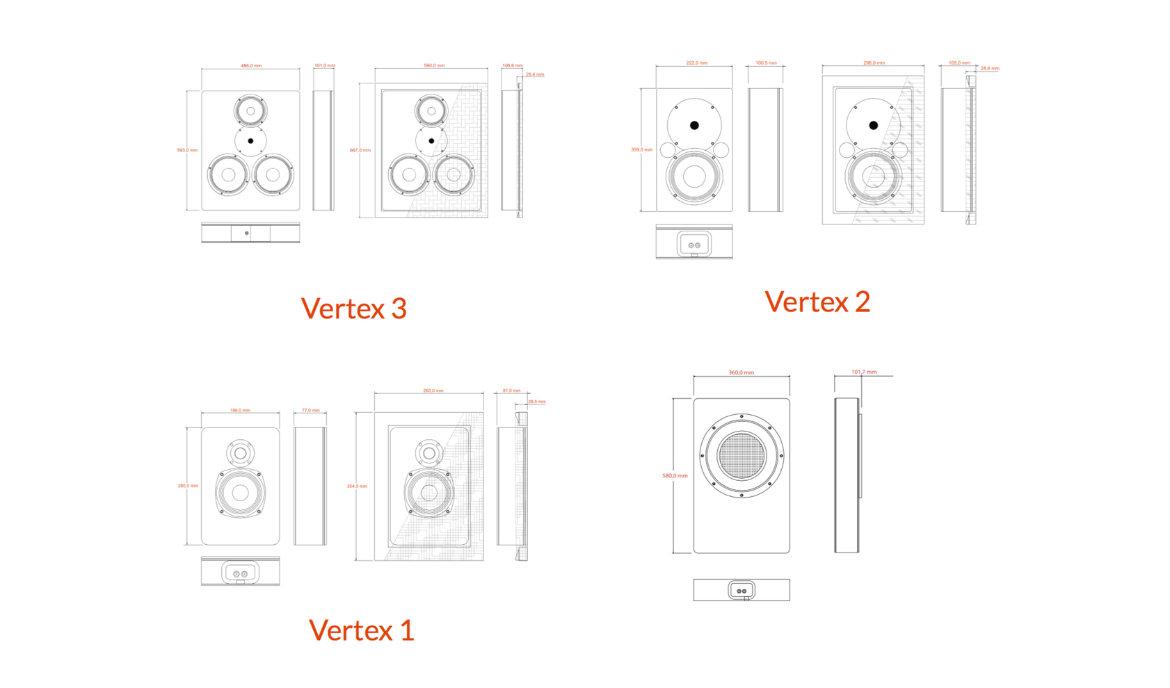 Audio Excellence Home Cinema High End Screen Loudspeakers Diagram Besides Pa System Wiring Moreover Sound Detailed Dimensions Of The Products Are Used To Recreate Them Within Tcd